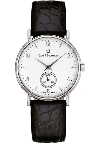 Carl F. Bucherer Watches - Adamavi Manual Wind 34mm - White Gold - Style No: 00.10305.02.26.01