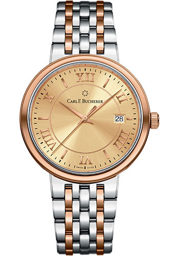 Carl F. Bucherer Watches - Adamavi Automatic 39mm - Steel and Rose Gold - Style No: 00.10314.07.45.21
