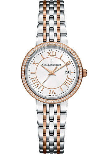 Carl F. Bucherer Watches - Adamavi Quartz 28mm - Steel and Rose Gold - Style No: 00.10315.07.15.31