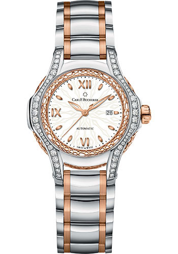 Carl F. Bucherer Watches - Pathos Diva Watch - Steel and Rose Gold - Style No: 00.10580.07.25.31.01