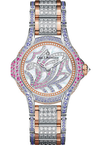 Carl F. Bucherer Watches - Pathos Swan Watch - White Gold and Rose Gold - Style No: 00.10590.09.90.31