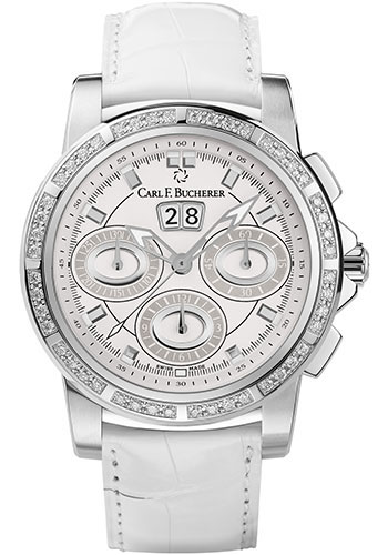 Carl F. Bucherer Watches - Patravi ChronoDate Stainless Steel - Diamonds - Style No: 00.10611.08.23.12