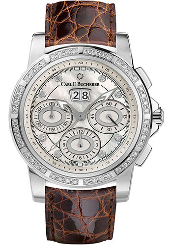 Carl F. Bucherer Watches - Patravi ChronoDate Stainless Steel - Diamonds - Style No: 00.10611.08.74.11