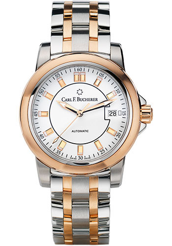 Carl F. Bucherer Watches - Patravi AutoDate 38mm - Two-Tone - Style No: 00.10617.07.23.21