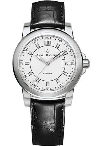 Carl F. Bucherer Watches - Patravi AutoDate 38mm - Stainless Steel - Style No: 00.10617.08.23.01