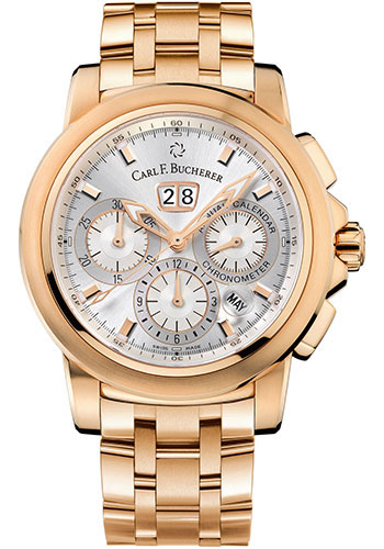 Carl F. Bucherer Watches - Patravi ChronoDate Rose Gold - Style No: 00.10619.03.13.21