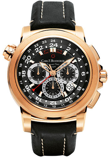 Carl F. Bucherer Watches - Patravi TravelTec Rose Gold - Style No: 00.10620.03.33.01