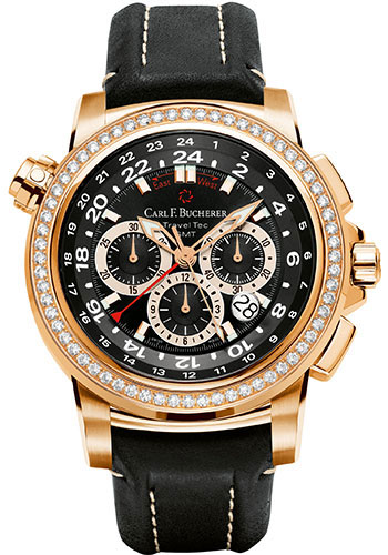 Carl F. Bucherer Watches - Patravi TravelTec Rose Gold - Style No: 00.10620.03.33.12