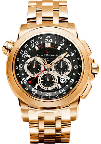Carl F. Bucherer Watches - Patravi TravelTec Rose Gold - Style No: 00.10620.03.33.21