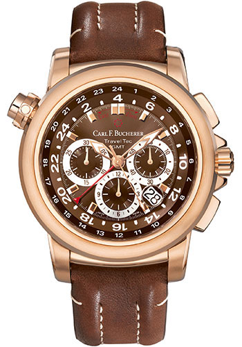 Carl F. Bucherer Watches - Patravi TravelTec Rose Gold - Style No: 00.10620.03.93.01