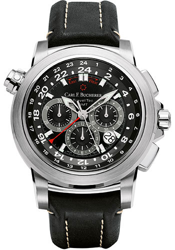 Carl F. Bucherer Watches - Patravi TravelTec Stainless Steel - Style No: 00.10620.08.33.01