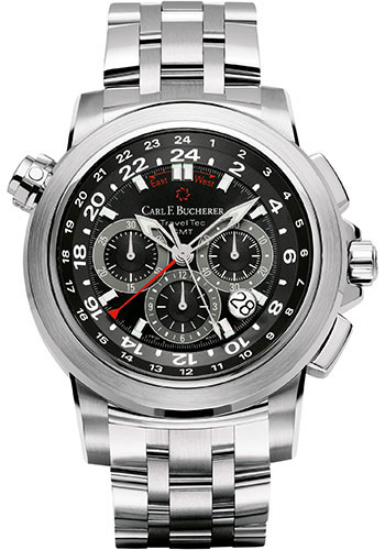 Carl F. Bucherer Watches - Patravi TravelTec Stainless Steel - Style No: 00.10620.08.33.21