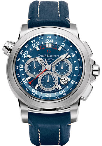 Carl F. Bucherer Watches - Patravi TravelTec Stainless Steel - Style No: 00.10620.08.53.01