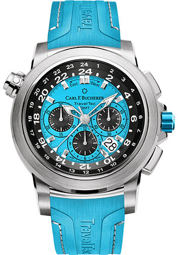Carl F. Bucherer Watches - Patravi TravelTec Stainless Steel - Color Edition - Style No: 00.10620.08.53.02