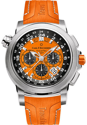 Carl F. Bucherer Watches - Patravi TravelTec Stainless Steel - Color Edition - Style No: 00.10620.08.93.03