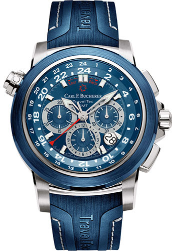 Carl F. Bucherer Watches - Patravi TravelTec Stainless Steel - Style No: 00.10620.23.53.01