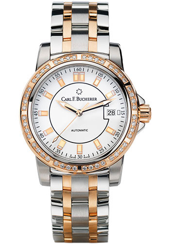 Carl F. Bucherer Watches - Patravi AutoDate 27mm - Two-Tone - Style No: 00.10621.07.23.31