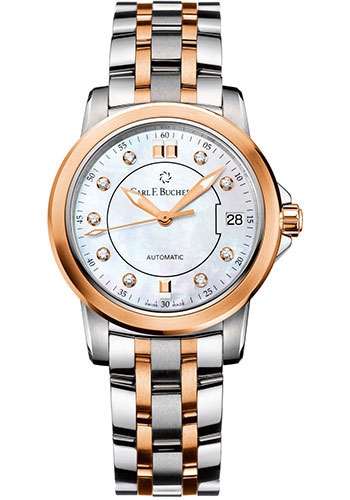 Carl F. Bucherer Watches - Patravi AutoDate 27mm - Two-Tone - Style No: 00.10621.07.77.21