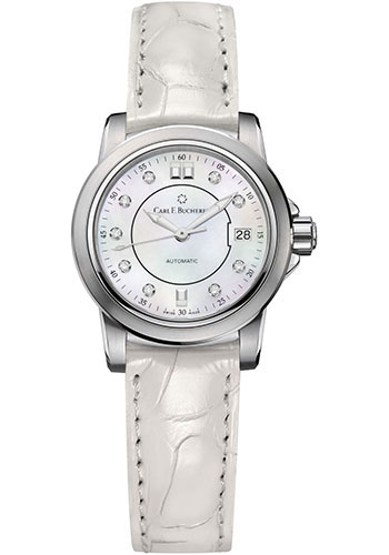 Carl F. Bucherer Watches - Patravi AutoDate 27mm - Stainless Steel - Style No: 00.10621.08.77.01