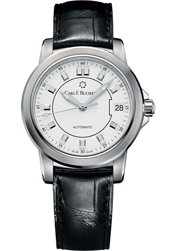 Carl F. Bucherer Watches - Patravi AutoDate 34mm - Stainless Steel - Style No: 00.10622.08.23.01
