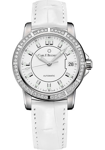 Carl F. Bucherer Watches - Patravi AutoDate 34mm - Stainless Steel - Style No: 00.10622.08.23.11