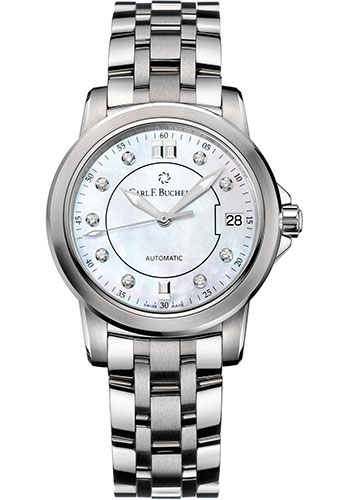 Carl F. Bucherer Watches - Patravi AutoDate 34mm - Stainless Steel - Style No: 00.10622.08.77.21