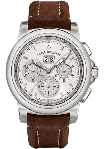 Carl F. Bucherer Watches - Patravi ChronoDate Stainless Steel - Style No: 00.10624.08.13.01