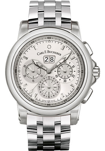 Carl F. Bucherer Watches - Patravi ChronoDate Stainless Steel - Style No: 00.10624.08.13.21