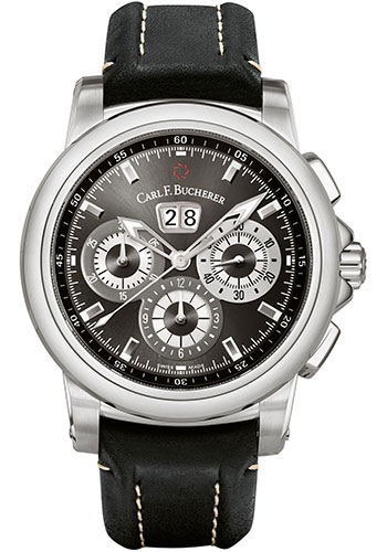 Carl F. Bucherer Watches - Patravi ChronoDate Stainless Steel - Style No: 00.10624.08.33.01