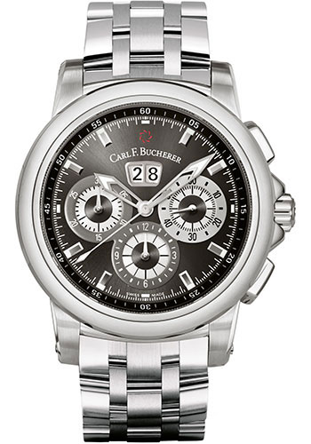 Carl F. Bucherer Watches - Patravi ChronoDate Stainless Steel - Style No: 00.10624.08.33.21