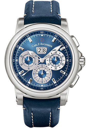 Carl F. Bucherer Watches - Patravi ChronoDate Stainless Steel - Style No: 00.10624.08.53.01