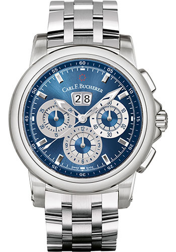 Carl F. Bucherer Watches - Patravi ChronoDate Stainless Steel - Style No: 00.10624.08.53.21