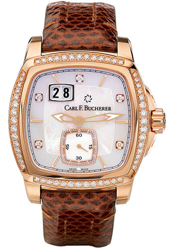 Carl F. Bucherer Watches - Patravi EvoTec BigDate Rose Gold - Style No: 00.10628.03.77.11