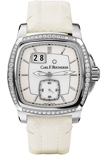 Carl F. Bucherer Watches - Patravi EvoTec BigDate Stainless Steel - Diamonds - Style No: 00.10628.08.23.11