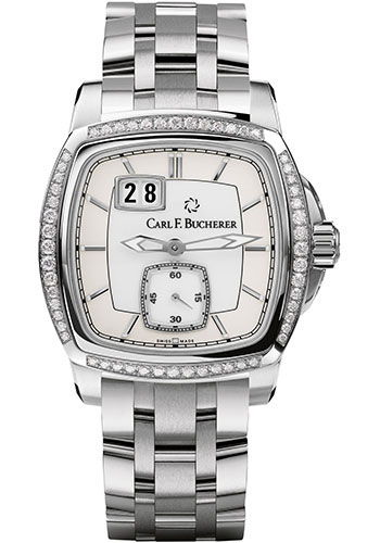 Carl F. Bucherer Watches - Patravi EvoTec BigDate Stainless Steel - Diamonds - Style No: 00.10628.08.23.31