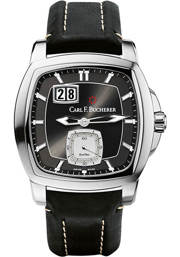 Carl F. Bucherer Watches - Patravi EvoTec BigDate Stainless Steel - Style No: 00.10628.08.33.01