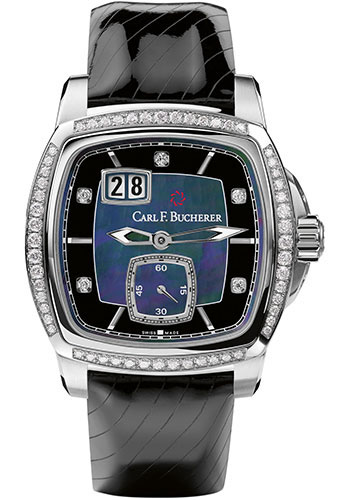 Carl F. Bucherer Watches - Patravi EvoTec BigDate Stainless Steel - Diamonds - Style No: 00.10628.08.87.11