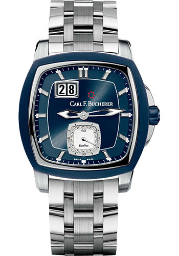 Carl F. Bucherer Watches - Patravi EvoTec BigDate Stainless Steel - Style No: 00.10628.13.53.21