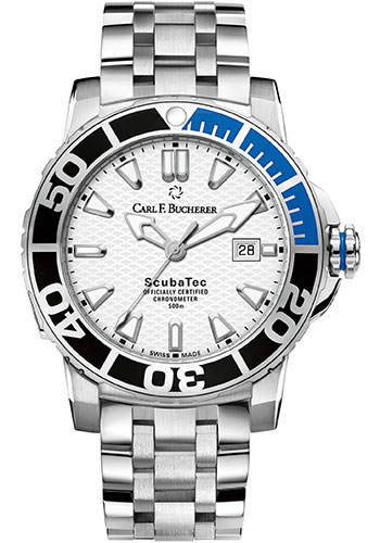 Carl F. Bucherer Watches - Patravi ScubaTec Stainless Steel - Style No: 00.10632.23.23.21