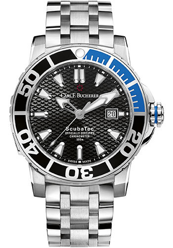 Carl F. Bucherer Watches - Patravi ScubaTec Stainless Steel - Style No: 00.10632.23.33.21