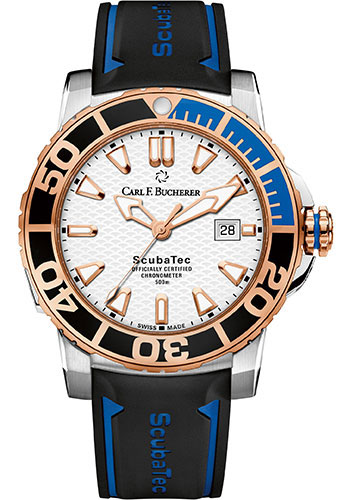 Carl F. Bucherer Watches - Patravi ScubaTec Steel and Rose Gold - Style No: 00.10632.24.23.01
