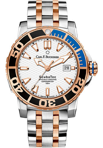 Carl F. Bucherer Watches - Patravi ScubaTec Steel and Rose Gold - Style No: 00.10632.24.23.21