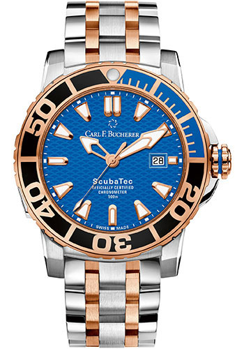 Carl F. Bucherer Watches - Patravi ScubaTec Steel and Rose Gold - Style No: 00.10632.24.53.21