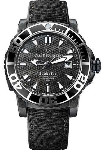 Carl F. Bucherer Watches - Patravi ScubaTec Black Titanium - Style No: 00.10632.28.33.01