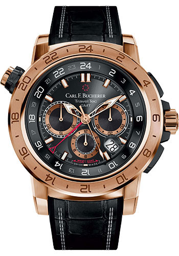 Carl F. Bucherer Watches - Patravi TravelTec II Rose Gold and Black Titanium - Style No: 00.10633.03.33.01