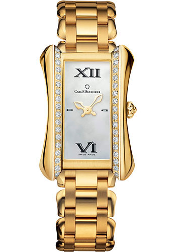 Carl F. Bucherer Watches - Alacria Queen - Yellow Gold - Style No: 00.10701.01.71.31