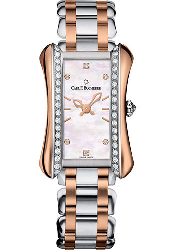 Carl F. Bucherer Watches - Alacria Queen - Steel and Rose Gold - Style No: 00.10701.07.77.31