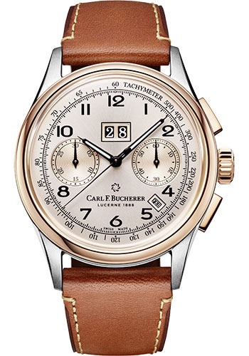 Carl F. Bucherer Watches - Heritage Bicompax Annual Watch - Style No: 00.10803.07.42.01
