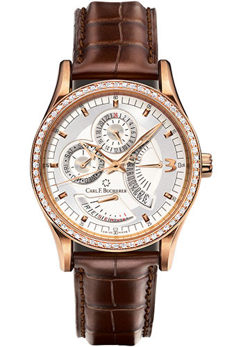 Carl F. Bucherer Watches - Manero RetroGrade Rose Gold - Style No: 00.10901.03.16.11