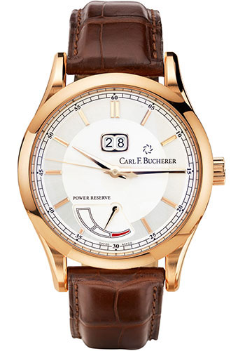 Carl F. Bucherer Watches - Manero BigDate Power Rose Gold - Style No: 00.10905.03.13.01
